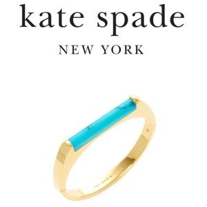 Turquoise and gold Kate spade bracelet